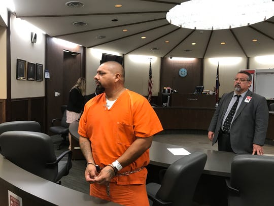 Jacob Nunez appears in court on Aug. 9 for an examining