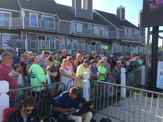 A large crowd turned out for the third day of the 44th