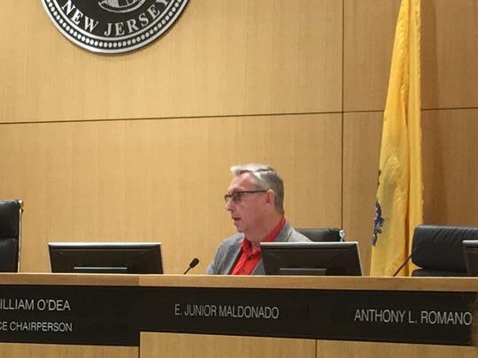 Hudson County Freeholder William O'Dea speaks Thursday