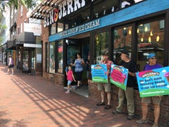 Protesters at Ben & Jerry's voice concerns about herbicides