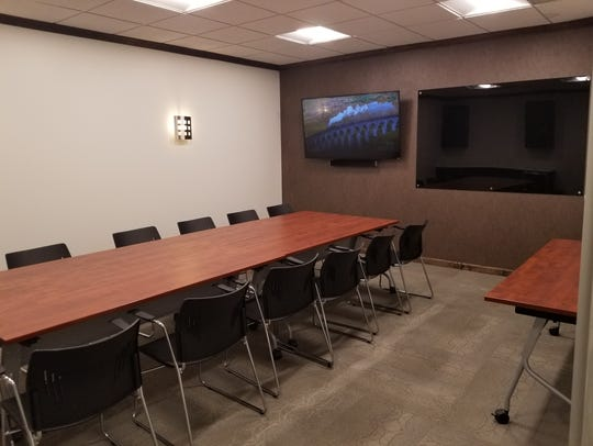 A conference room at one of Webster Properties' soon