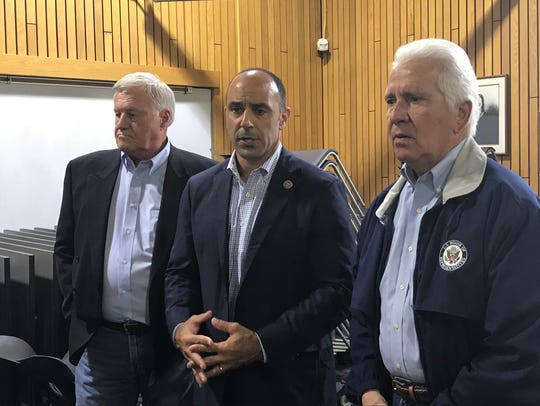Left, Congressmen Collin Petersen, Jimmy Panetta and