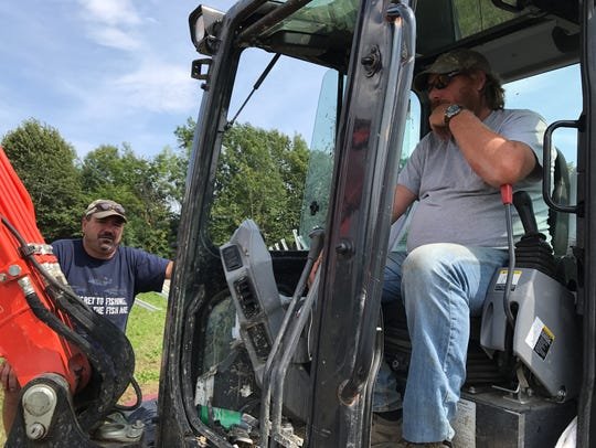 Property owner Pete Johnson, left, and Bullrock Corp.