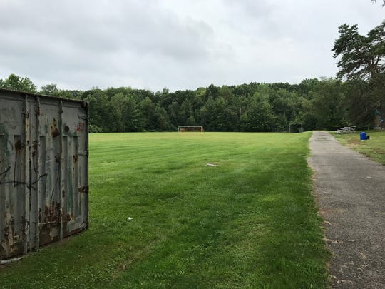 The playing field at Nosenzo Pond Park in West Milford,