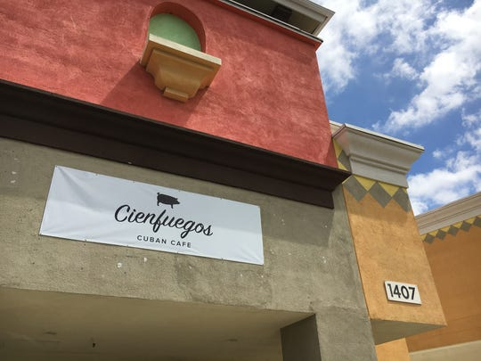 A banner marks the location of Cienfuegos Cuban Cafe