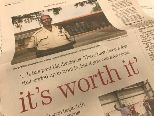 "George Williams told The Town Talk in July that he became a school resource officer to reach the youth he was encountering on the streets as a city police officer at a younger age. Williams said his job ""has paid big dividends. There have been a few that ended up in trouble, but if you can save some, it's worth it."""