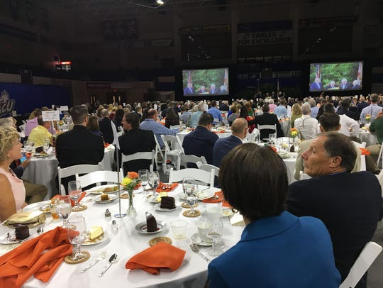 About 500 people heard U.S. Agriculture Secretary Sonny