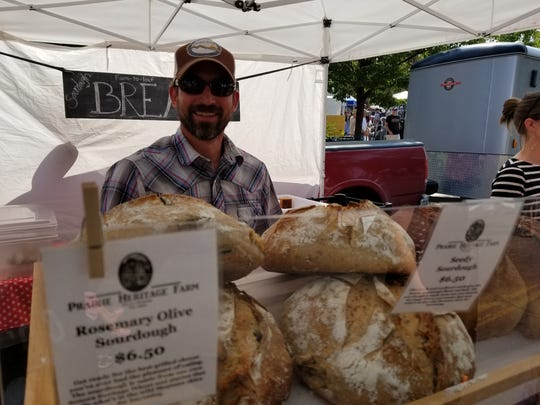 Jacob Cowgill sells produce and more each week at Prairie Heritage Farms and Blue Truck Bread at the Great Falls Original Farmers' Market.