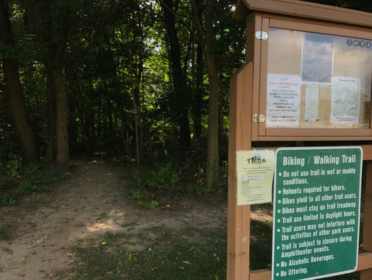Tippecanoe Amphitheater offers trails through the wooded