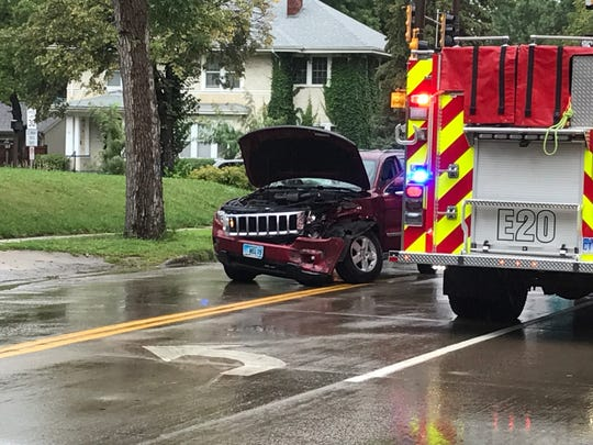 The scene of a crash at East 26th Street and South Phillips Avenue on Aug. 16.
