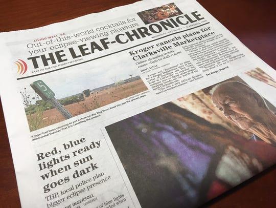 The Leaf-Chronicle newspaper.