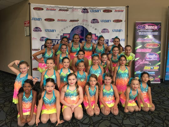 The Somerset Hills YMCA Dance Team sparkles at the 2017 World Dance Championship.