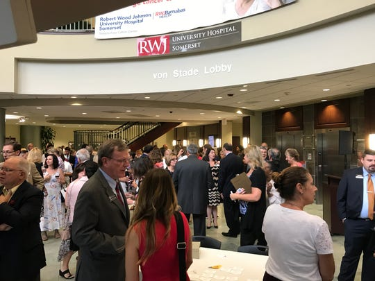 Nearly 150 people from across the Somerset County public and private sectors celebrated the 10th anniversary of the Steeplechase Cancer Center at a Somerset County Business Partnership networking event on Aug. 15.
