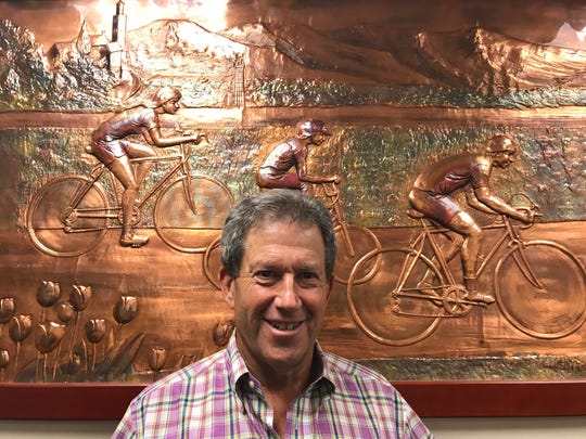 Arnold Kamler, chairman of Kent International, in the Parsippany headquarters of his family's bicycle manufacturing-distribution company, which sells 3 million bikes a year under different brand names to major retailers.