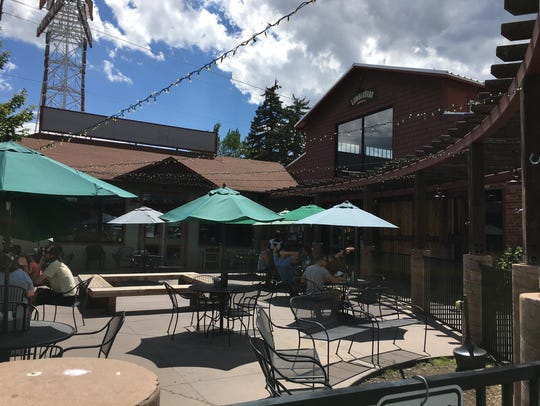The patio outside Lumberyard Brewing Company is a great