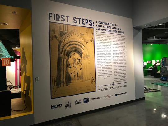 The new Wall of Giants exhibit featuring religious items from the Cathedral and Cathedral High School opens Aug. 20.
