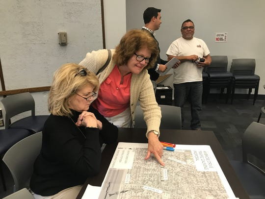 Residents brainstorm potential solutions to problems