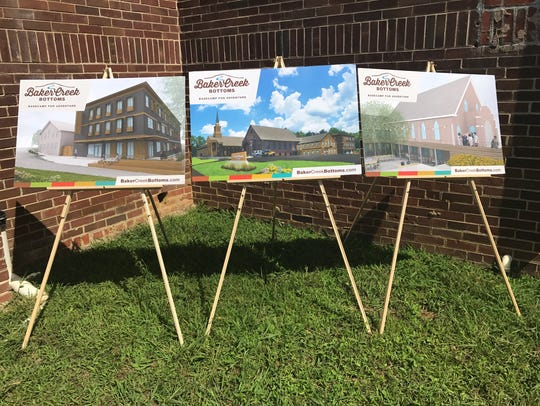 Concept drawings for the Baker Creek Bottoms redevelopment