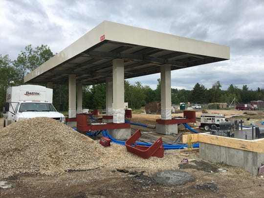 Construction is well underway on Costco's planned 12-pump gas station in Colchester.