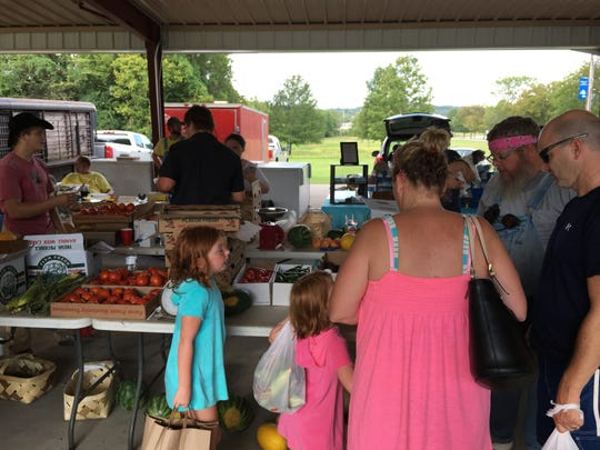 The Ashland City Farmers and Artisans Market takes place every Saturday from 4 to 7 p.m. at Riverbluff Park.