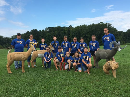 The Holly Grove elementary archery team shot a 1,505