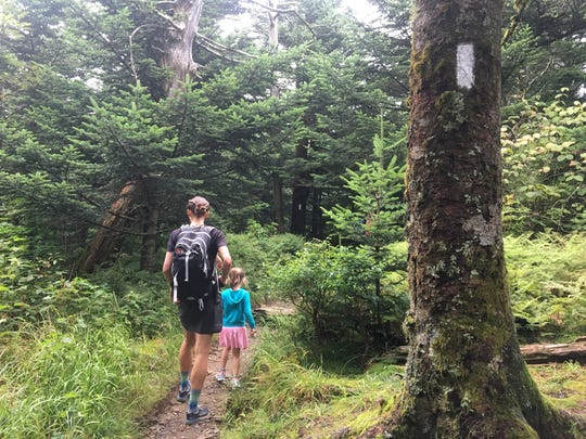Jennifer Pharr Davis started a three-month, 1,175-mile hike on the Mountains-to-Sea Trail with her family on Aug. 15 in honor of the trail's 40th anniversary.