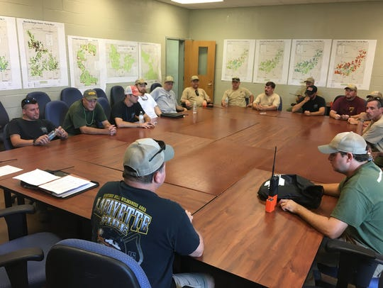 Mississippi Forestry Commission Wildland Firefighters