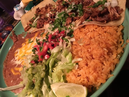 The tacos autenticos at Fiesta Azteca in Suntree were