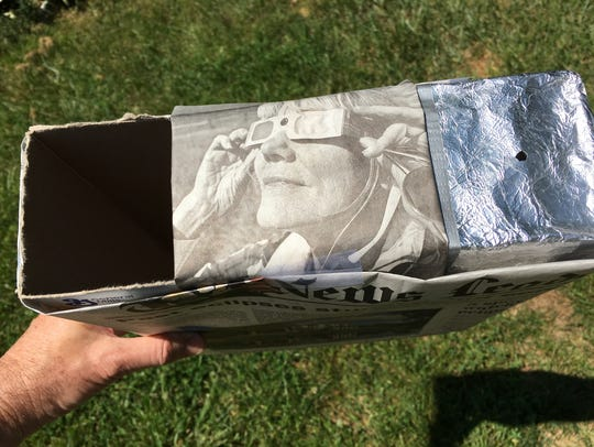 A standard cereal-box eclipse viewer, ready for action.