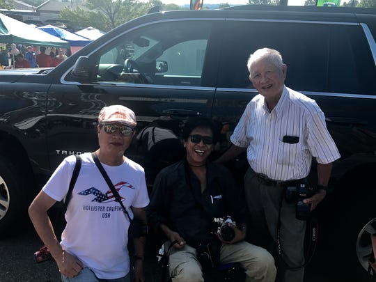 Friends Friends Alex Hong, Tan Van Le and Canh Bui traveled to Sweetwater to watch Monday's total solar eclipse.