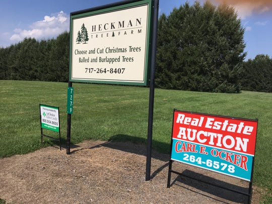 Heckman Tree Farm is being sold at auction in September.