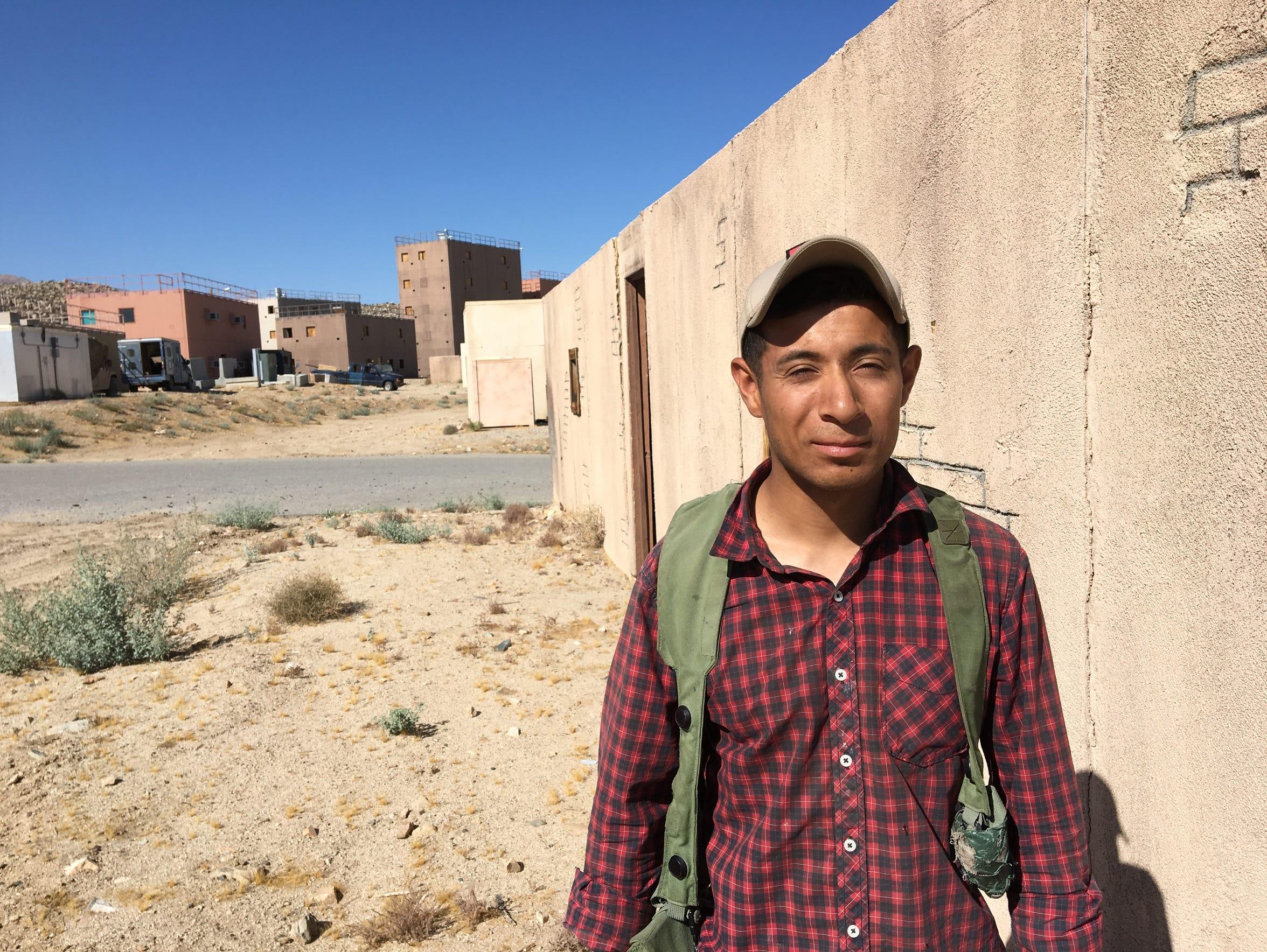 First Lt. Daniel Flores, of El Paso, is a platoon leader