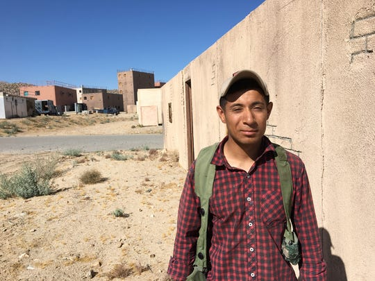 First Lt. Daniel Flores, of El Paso, is a platoon leader with the 11th Armored Cavalry Regiment at Fort Irwin. Here, he portrays an insurgent.