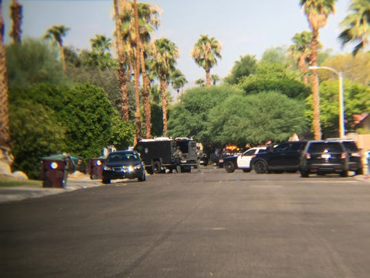 Homes were evacuated after Cathedral City police shut