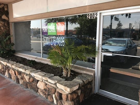 One of the storefronts a massage parlor occupied in