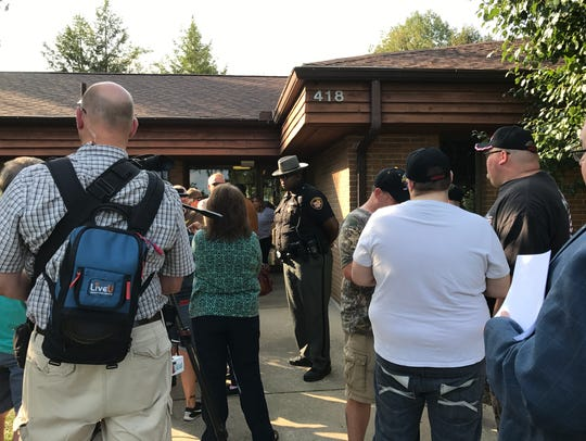 Dozens of residents were not allowed into a Franklin