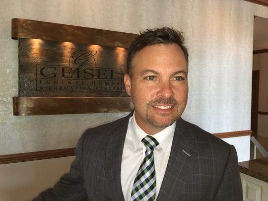 Tom Geisel II, president of Geisel Funeral Homes, Chambersburg