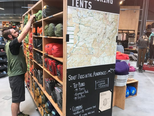 The REI store is filled with local trail maps