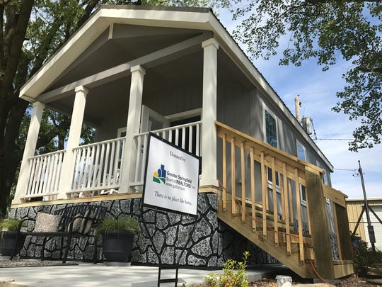 Greater Springfield Board of Realtors donated $30,000 last year to purchase this tiny house for Eden Village, a planned community for chronically disabled homeless people