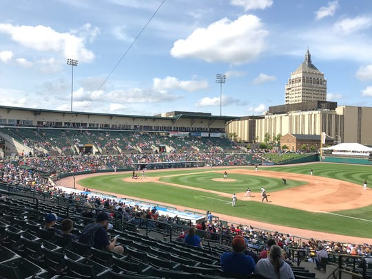 Frontier Field during a Rochester Red Wings game against
