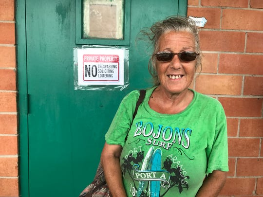 Marcia Domer, a 55-year-old Port Aransas resident, is among 1,100 Harvey evacuees being sheltered in San Antonio.