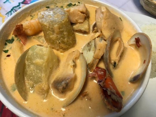 Sopa de mariscos (seafood soup) at Tikal Cafe