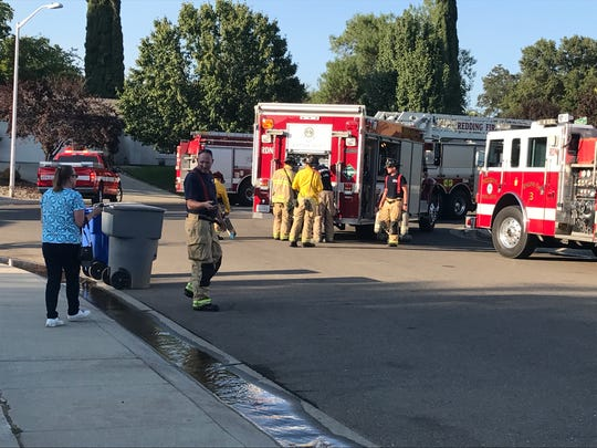 A fire on Monday destroyed a garage at Monterra Lane in south Redding.
