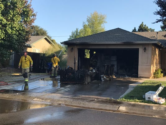 Garage fire at Monterra Lane 2