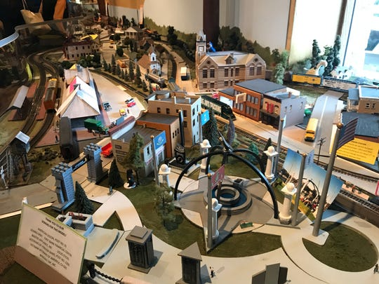 One of the first sites to greet guests at Maxim's is a scale model railroad by James F. Fuller Memorial Railroad Inc. depicting many replicas of Oconomowoc buildings.