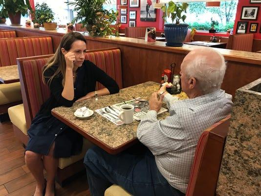 Congress hopeful chats up Morris diner patrons