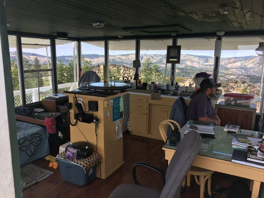 Office with a view: the fire lookout at Mills Peak