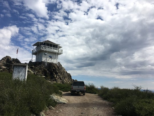 Mills Peak fire lookout, Plumas National Forest