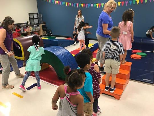 Teachers work on coordination, balance and other skills