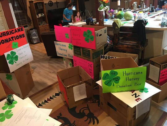 Students in Loving 4-H decorated boxes for their supply